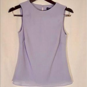 Ann Taylor Lilac sleeveless blouse